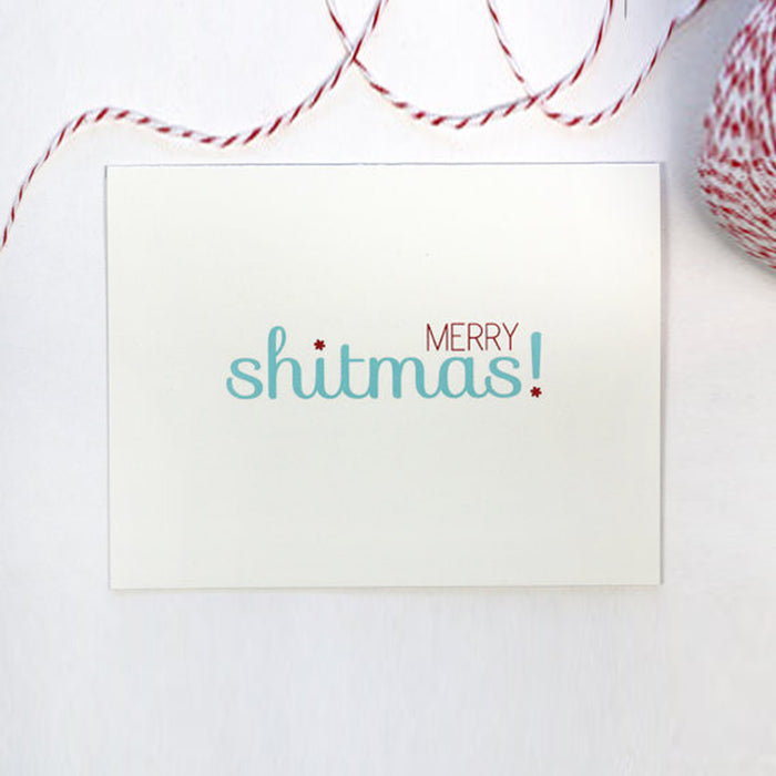 Merry Shitmas Holiday Card Set - Fuck Shit Shop