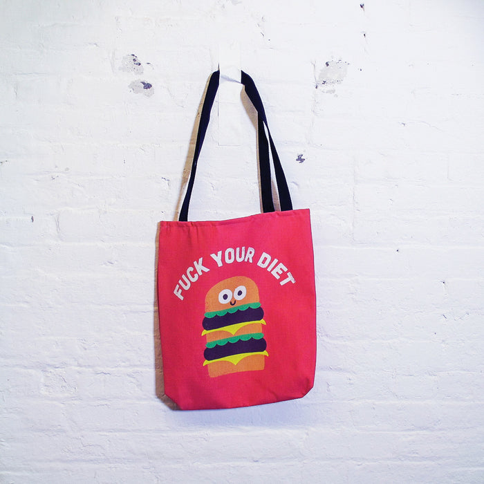 Fck Your Diet Tote Bag - Fuck Shit Shop