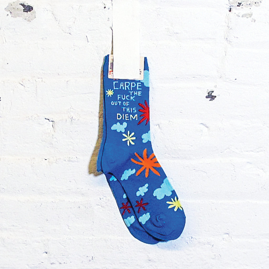 Carpe Diem Crew Socks - Fuck Shit Shop