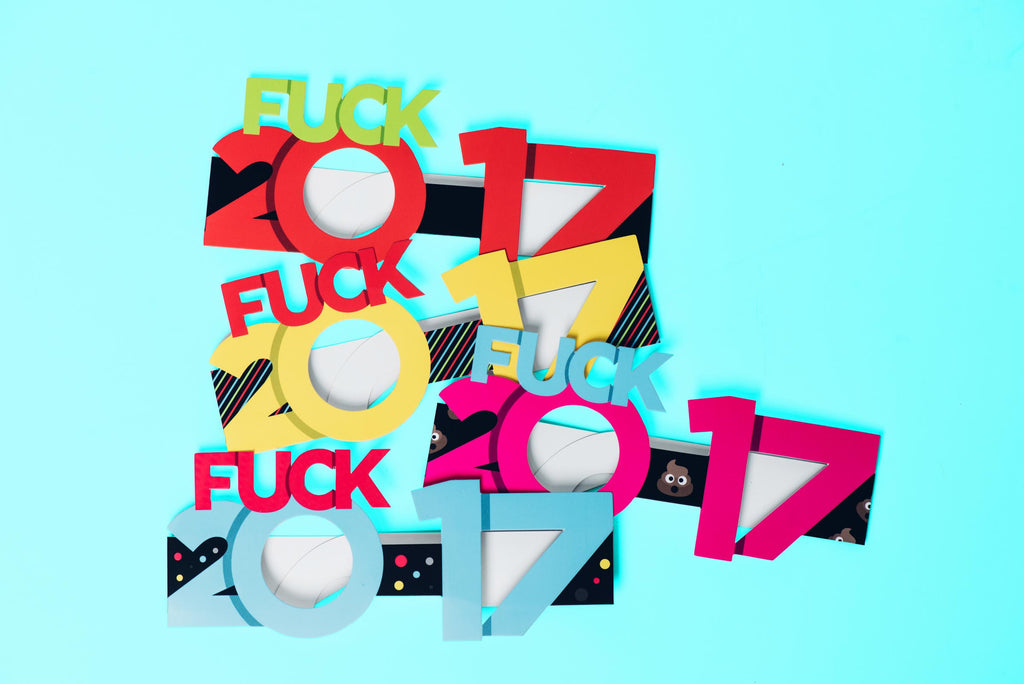 Fuck 2017 Glasses 4-Pack - Fuck Shit Shop