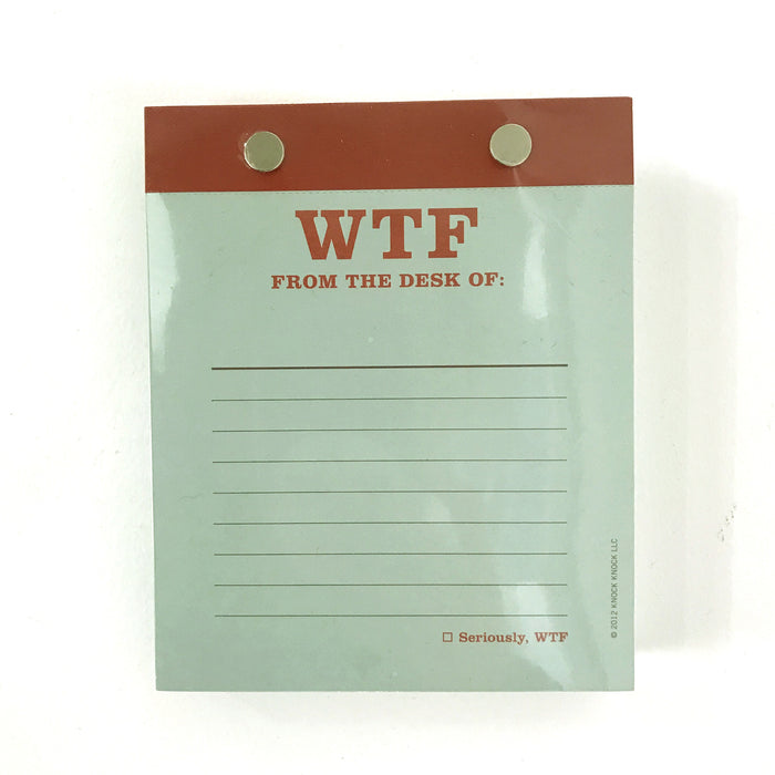 WTF Desk Notepad - Fuck Shit Shop