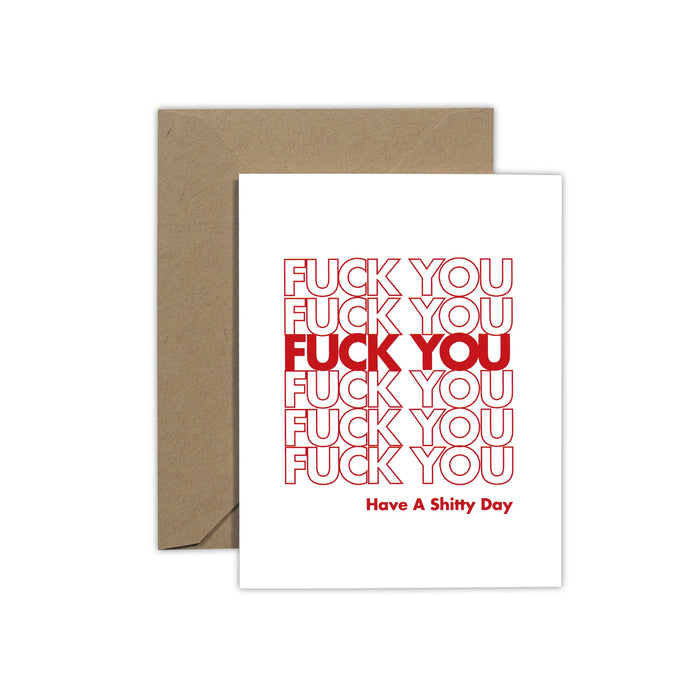 Fck You/ Have A Shtty Day Cards - Fuck Shit Shop