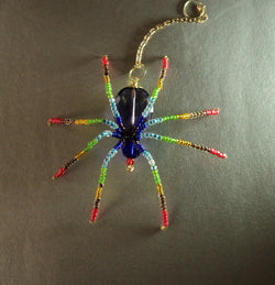 Chakra Stunning Beaded Crystal Hand Made Spider Suncatcher Totem Rear View Mirror Decor