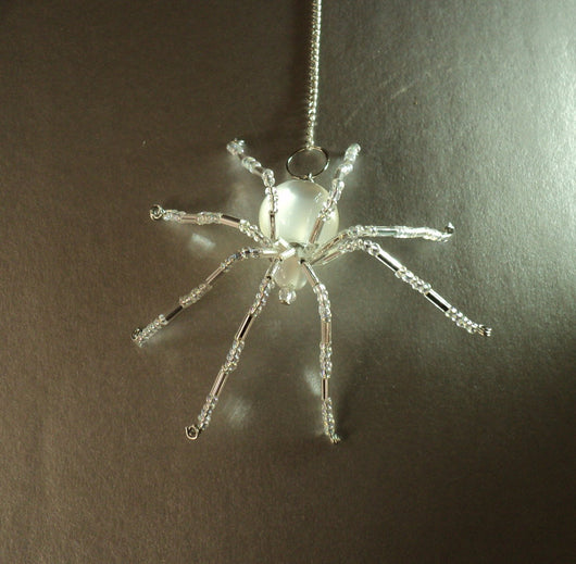Moonstone Stunning Beaded Crystal Hand Made Spider Suncatcher Totem Rear View Mirror Decor