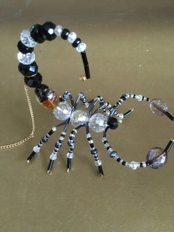 Black Clear Crystal Beaded Beaded Scorpion Fabulous Gift for any Occassion Moms Dads Friends Rear View Mirror