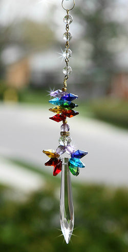 CHAKRA Crystal Angel Sun Catcher Hand Made