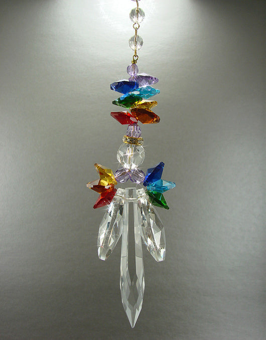 CHAKRA Crystal Angel Suncatcher Hand Made for Pride As Well