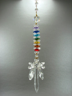 CHAKRA PRIDE Crystal Angel Sun Catcher Hand Made HEARTS