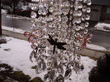 Crystal Window Art Crystal Art Large Suncatcher Real Crystals Butterfly Dragonfly Beauty