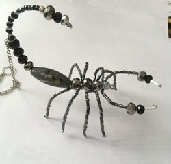 Pewter Silver Crystal Beaded Beaded Scorpion Pewter Shade Fabulous Gift for any Occassion Moms Dads Friends Rear View Mirror