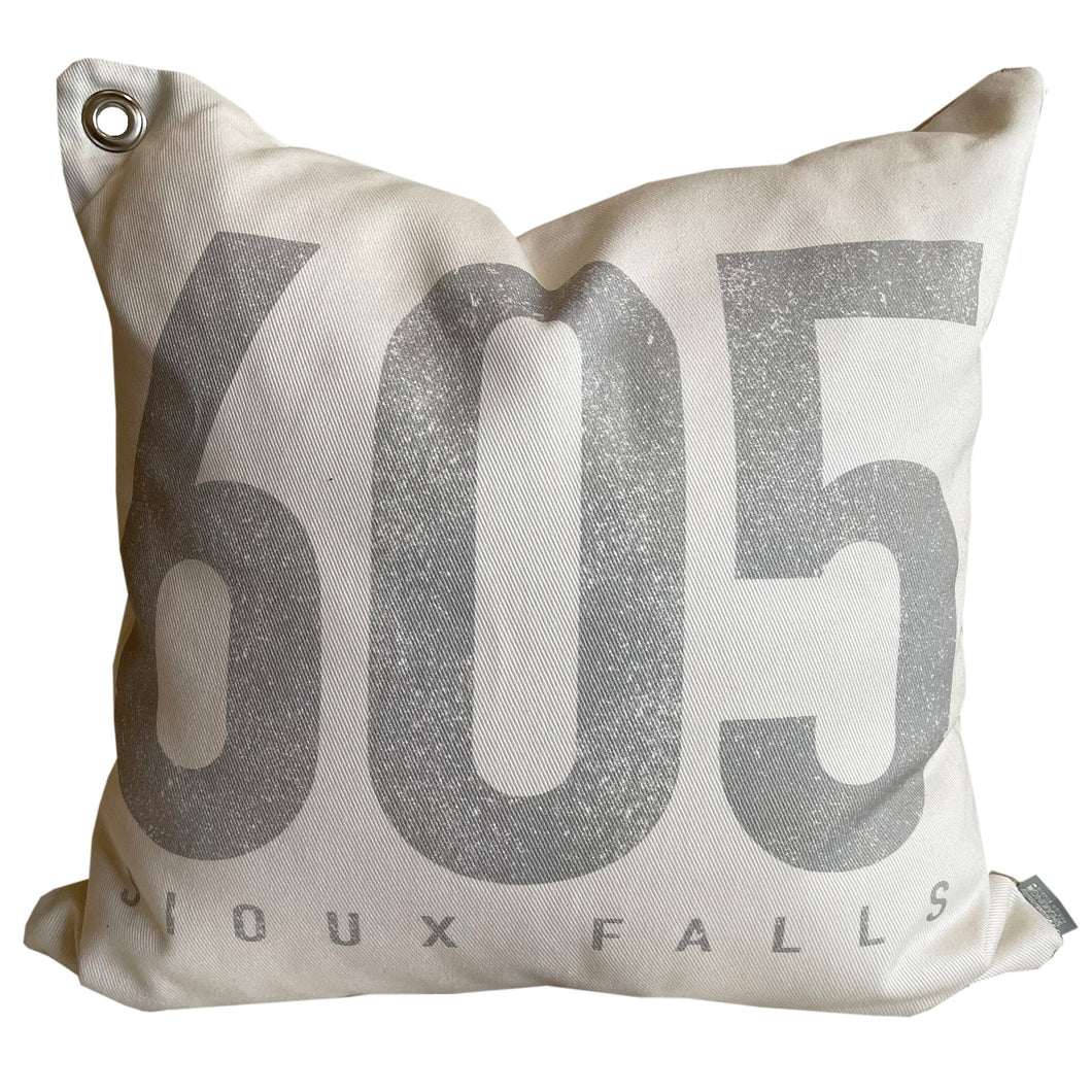 Area Code + City \\ Custom Pillow