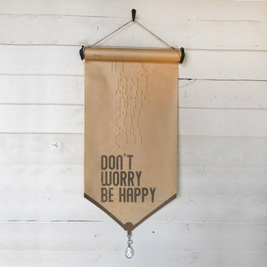 Don't Worry Be Happy \\ Song \\ Vintage Piano Roll Sign