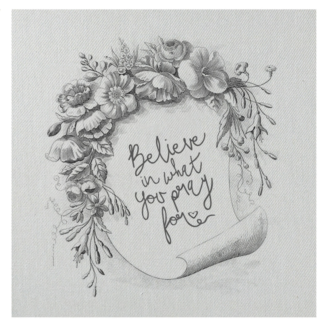 Believe In What You Prayer For Mini Canvas