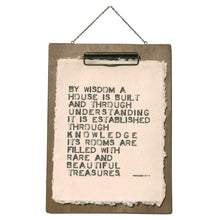 By Wisdom Proverbs Handmade Paper Print