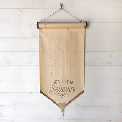 Don't Stop Believin \\ Journey Song \\ Vintage Piano Roll Sign