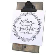 Gather Here With Grateful Hearts Mini Canvas