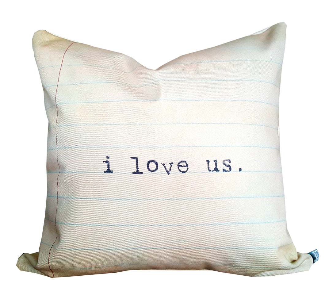 I Love Us Pillow