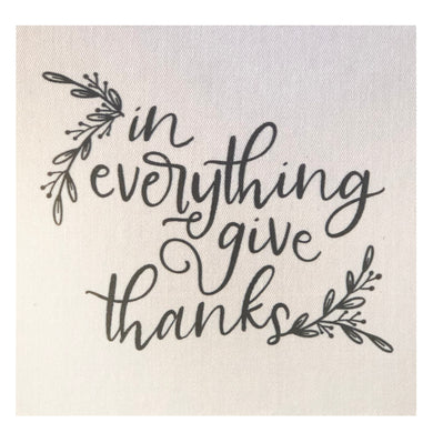 In Everything Give Thanks Mini Canvas