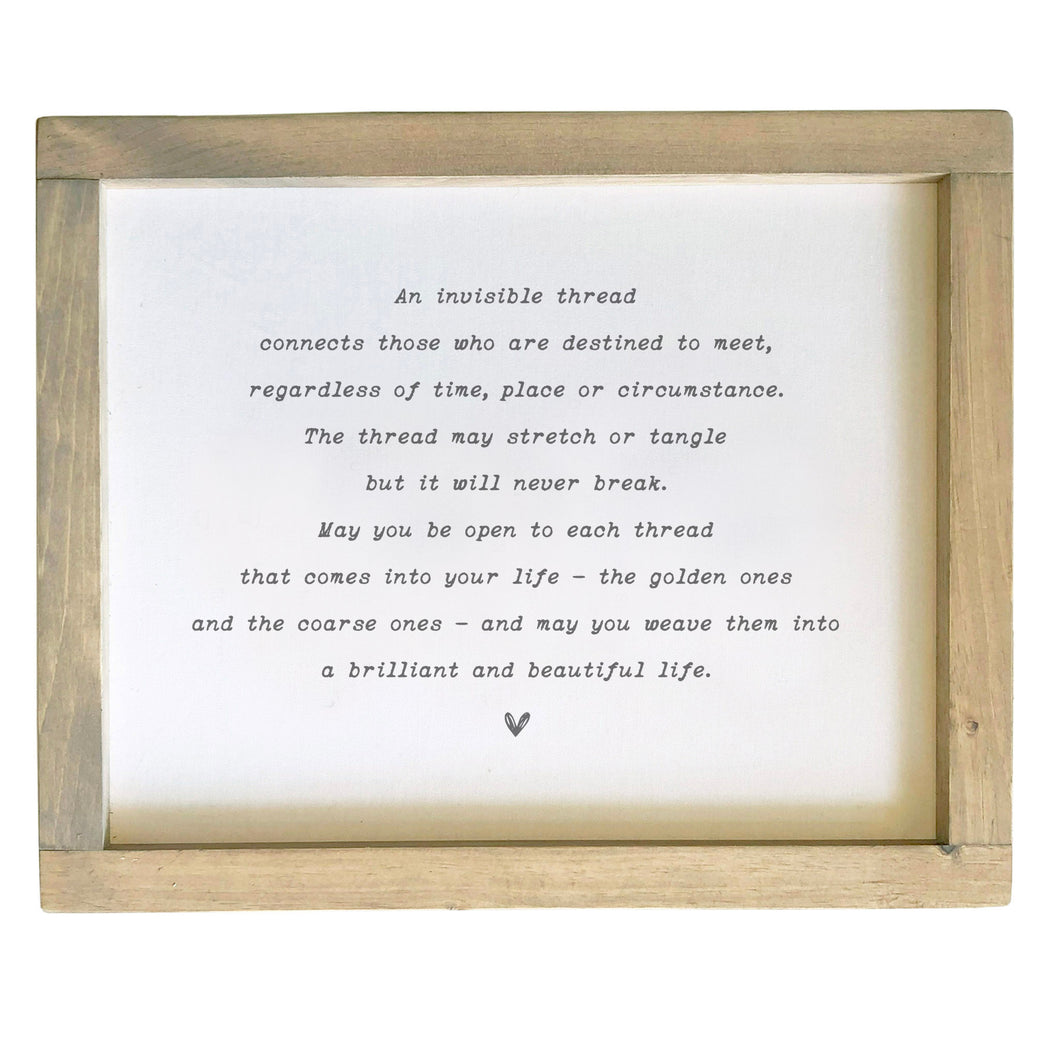 Invisible Thread / Wedding / Relationship Framed Canvas