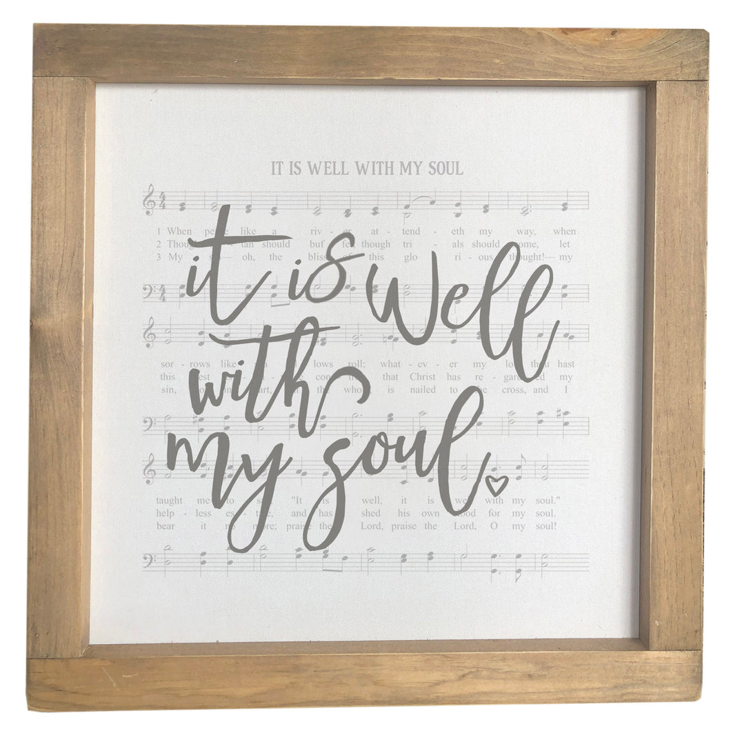 It Is Well With My Soul / Hymn Framed Canvas