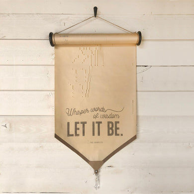 Whisper Words of Wisdom Let It Be \\ Song \\ Vintage Piano Roll Sign