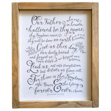 The Lord's Prayer Framed Canvas