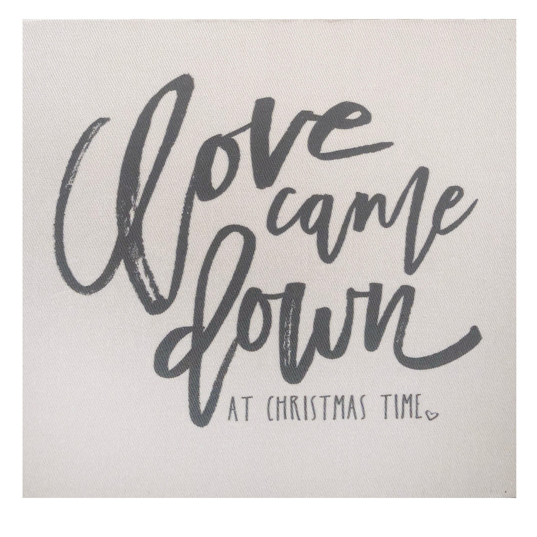 Love Came Down At Christmas Time Mini Canvas
