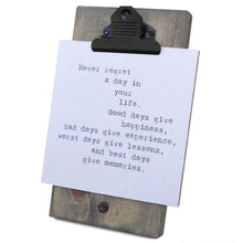 Never Regret A Day In Your Life Mini Canvas