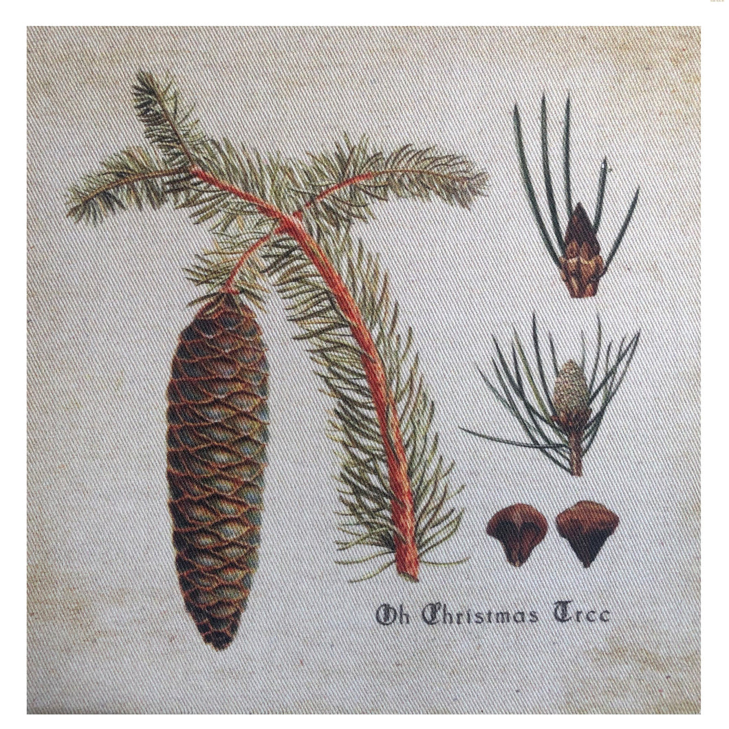 O Christmas Tree Pinecones Mini Canvas