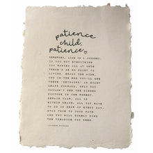 Patience Child Handmade Paper Print
