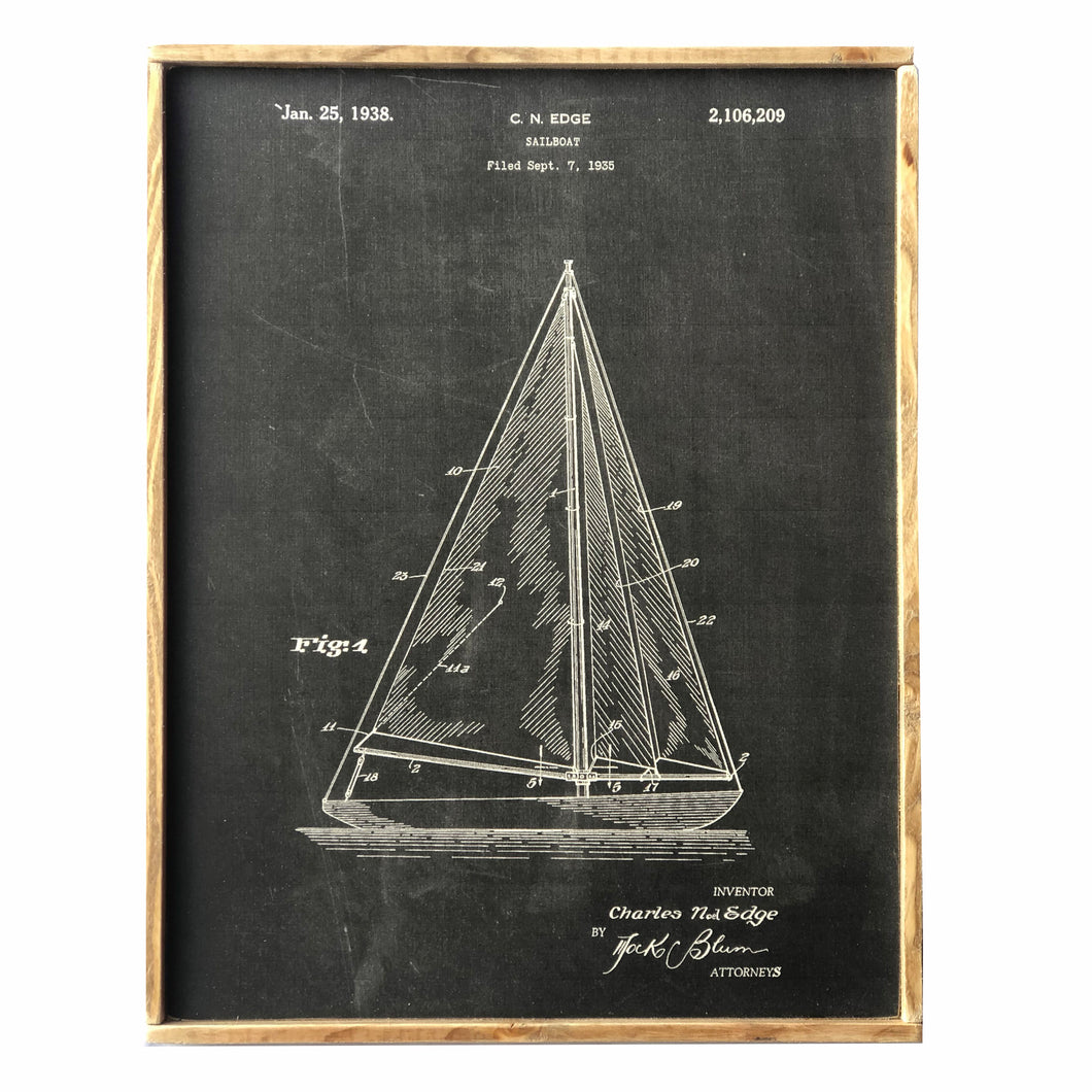 Sailboat Vintage Style Framed Print
