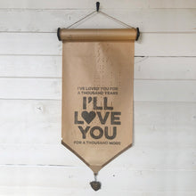 I've Loved You For A Thousand Years \\ Song \\ Vintage Piano Roll Sign