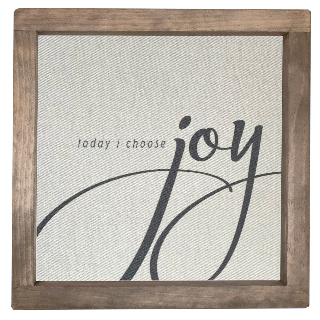 Today I Choose Joy Framed Canvas