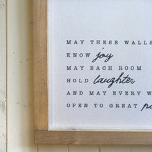 May These Walls Know Joy Framed Canvas