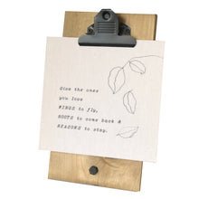 Give the Ones You Love Wings to Fly Mini Canvas