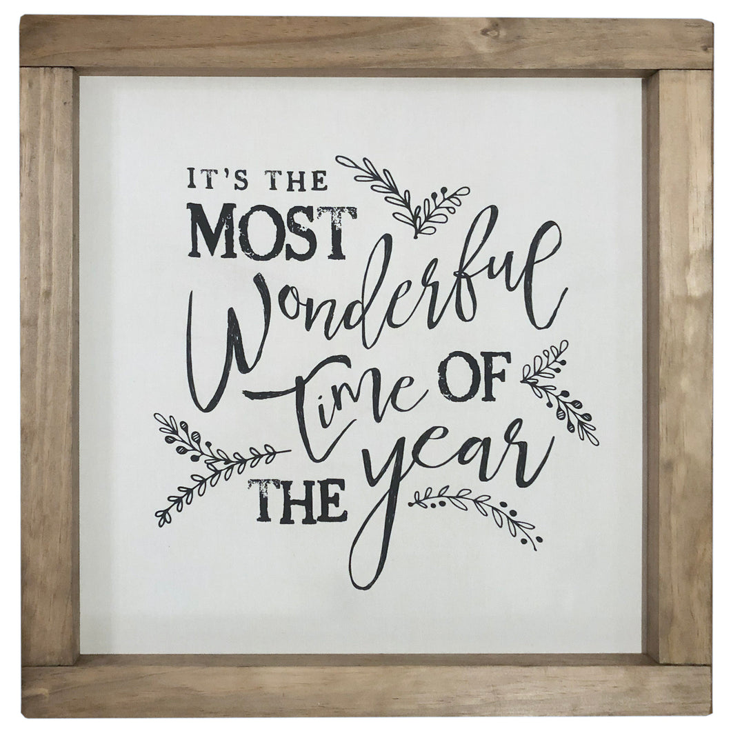 It's the Most Wonderful Time of the Year Framed Canvas