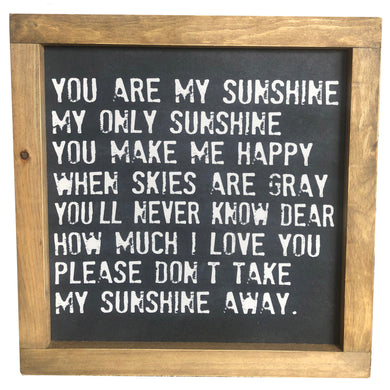 You are My Sunshine Framed Canvas
