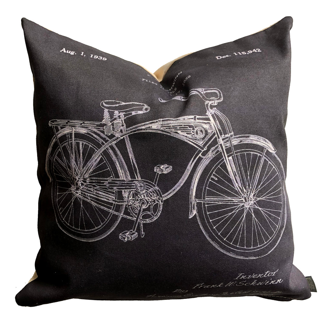 Bicycle Patent Pillow