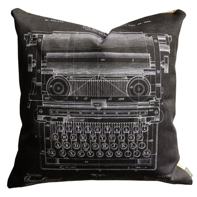 Typewriter Patent Pillow