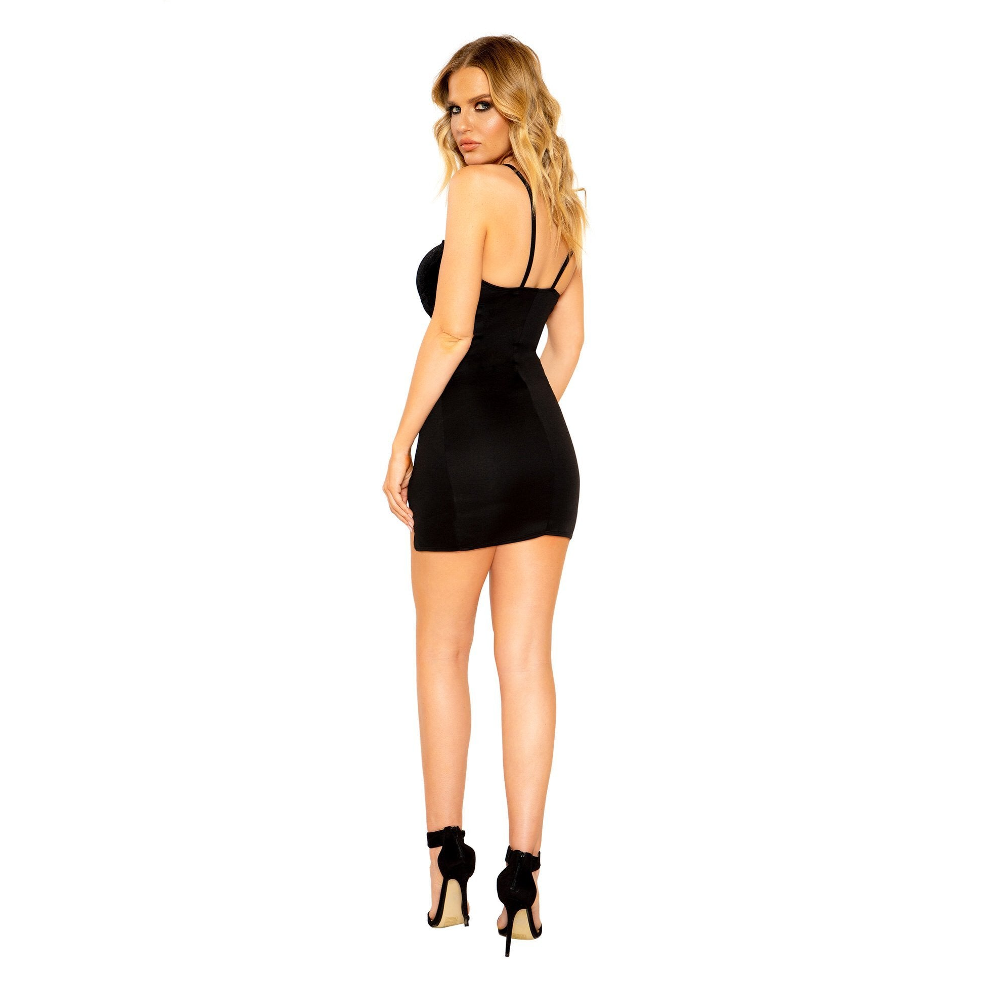 Sexy Mini Black Cocktail Dress With Slit Details