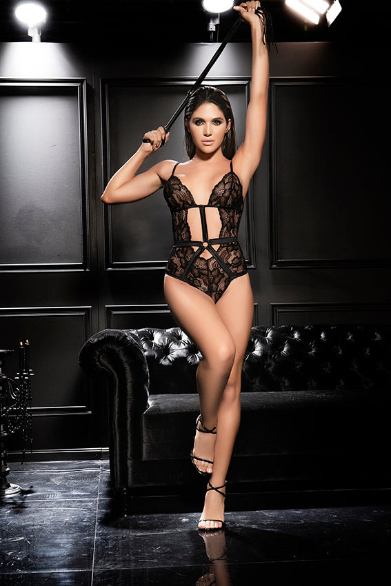 NEW Gorgeous Black Lace Teddy