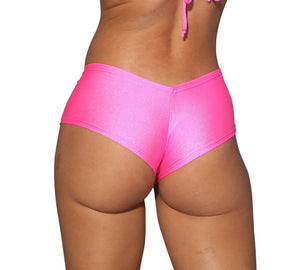 Cheeky Neon Pink Basic Booty Shorts