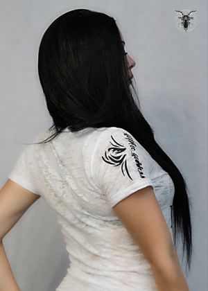 LIMITED EDITION FREAK WHITE BURNOUT V-NECK WOMEN'S TEE