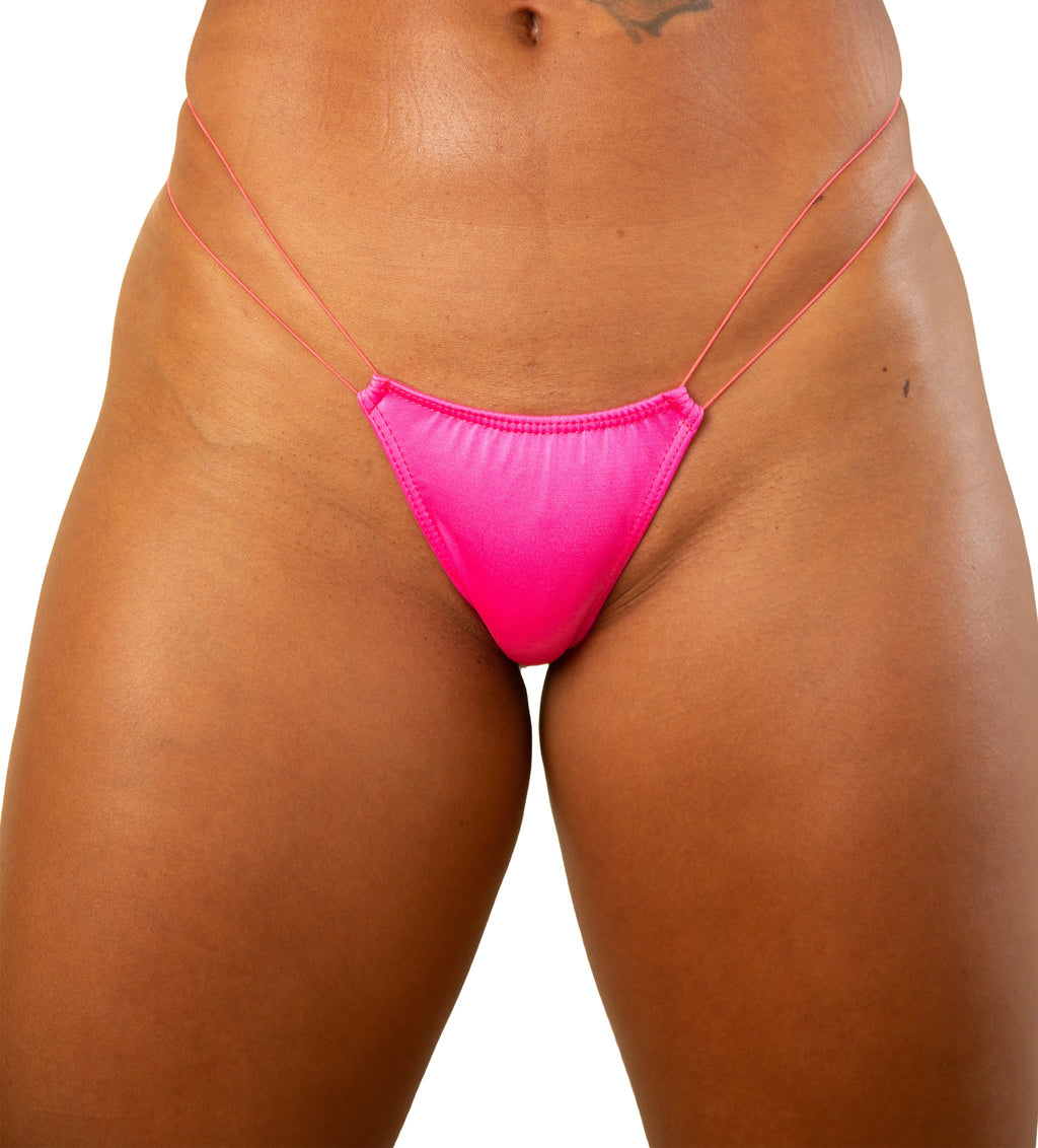Hot Pink Low Rise T-Back String Thong - Stripper Thongs