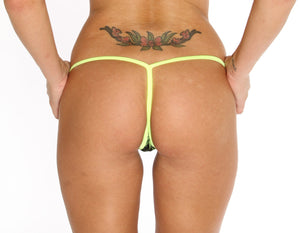 New Marijuana Print V Back Thong Marijuana Apparel