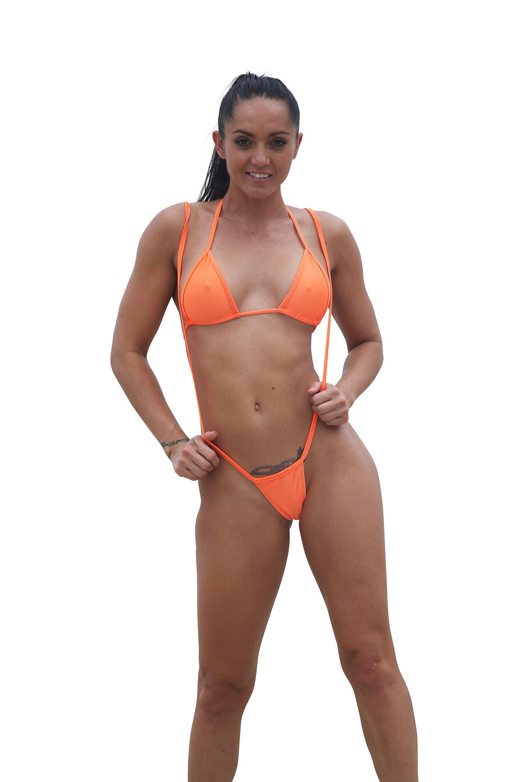 Sexy Orange Slingshot Thong