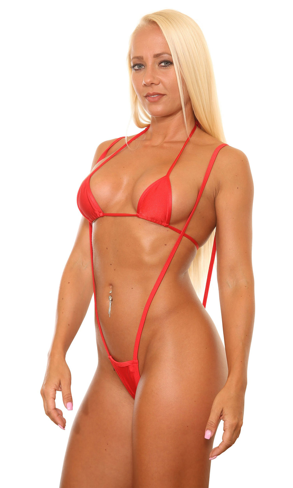 Red Slingshot G-String Bikinis