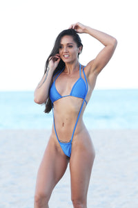 Royal Blue Slingshot G-String Bikinis
