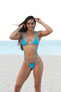 Sexy Turquoise Slingshot Thong