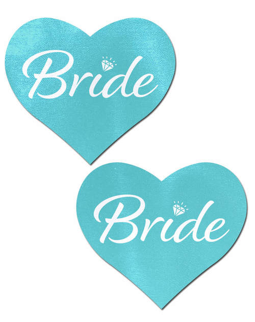 Tiffany Blue 'Bride' Heart Nipple Pasties by Pastease®